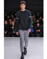 Z Zegna Gray Ribbed Wool Sweater for men
