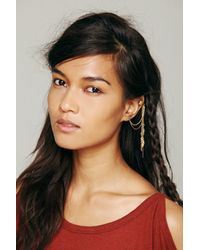 Free People | Metallic Womens Cuff To Post Earring | Lyst