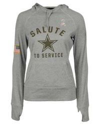pretty nice bc733 95596 Gray Women's Dallas Cowboys Salute To Service Hoodie