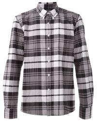 Saturdays NYC Black 'Crosby' Plaid Shirt for men