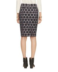 Kate Spade | Blue Dot Lace Pencil Skirt | Lyst