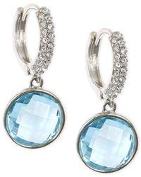 Judith Jack | Blue Silver-tone Crystal Drop Earrings | Lyst