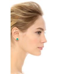 Marc By Marc Jacobs - Blue Saw Tooth Enamel Disc Stud Earrings - Deep Sea Turquoise - Lyst