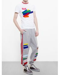 James Long | White Patchwork T-Shirt for Men | Lyst