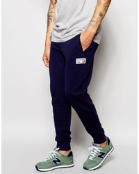Cotton Joggers in Blue for Men - Lyst
