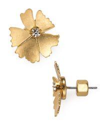Marc By Marc Jacobs Metallic Mini Pinwheel Stud Earrings