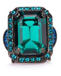 Lanvin - Green Crystal Ring - Lyst