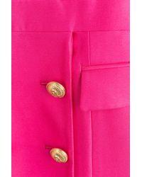 Balmain - Pink Crepe Tuxedo Dress - Lyst