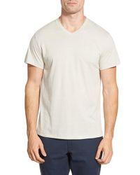 O By Oscar De La Renta - Gray V-neck T-shirt for Men - Lyst