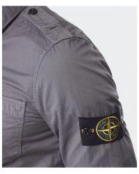 Stone Island - Gray Badge Shirt for Men - Lyst