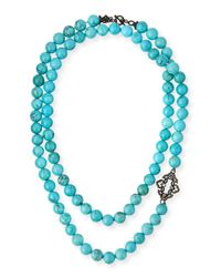 Armenta - Blue Old World Midnight Beaded Magnesite Necklace - Lyst
