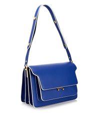 Marni | Blue Trunk Leather Shoulder Bag | Lyst