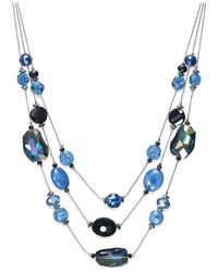 Style & Co. | Silver-tone Blue Jet Large Bead Illusion Necklace | Lyst