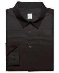 Calvin Klein - Black Engineered Horizontal Stripe Ultra Slim-Fit Shirt for Men - Lyst