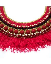 Margot & Me - Red Willow Necklace In Oleander - Lyst