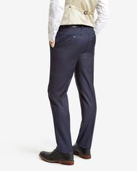Ted Baker - Blue Wool Suit Pants for Men - Lyst