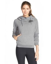 Nike - Black 'rally' Funnel Neck Hoodie - Lyst