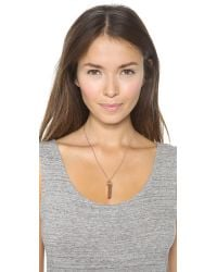 Marc By Marc Jacobs Pink Bullet Pendant Necklace Rose Gold