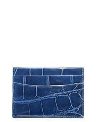 Trafalgar | Blue Genuine Alligator Leather Card Case | Lyst