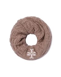 Tory Burch   Brown Whipstitch-t Infinity Scarf   Lyst