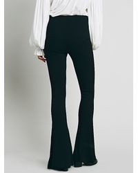 Free People - Black Jenny Cozy Ribbed Flare - Lyst