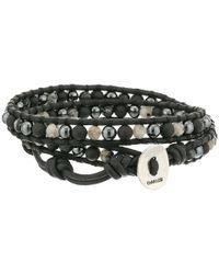 Chan Luu - 13 Black Mixnatural Black Bracelet for Men - Lyst