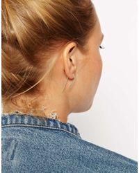 ASOS | Metallic Sterling Silver Long Spike Through Earrings | Lyst