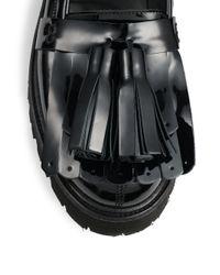 MSGM - Black Kiltie Tassel Patent Leather Loafers - Lyst