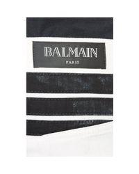 Balmain - White Racer Skinny Biker Jeans for Men - Lyst