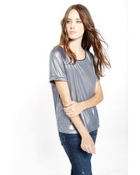 Liu Jo | Blue Wet-look Jersey Tee | Lyst