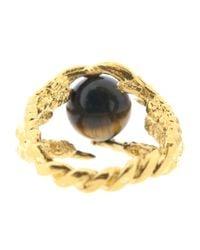 Tessa Metcalfe | Metallic Pearl Of London Tigers Eye Gold | Lyst