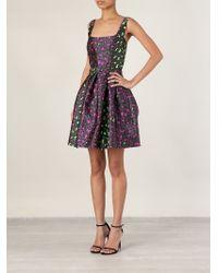 Christopher Kane - Purple Leopard Jacquard Princess Dress - Lyst