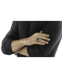 John Hardy | Metallic Bedeg Linear Line Pattern Square 15x15mm Ring for Men | Lyst
