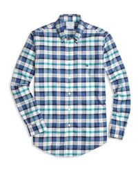 Brooks Brothers | Blue Non-iron Regent Fit Bold Plaid Sport Shirt for Men | Lyst