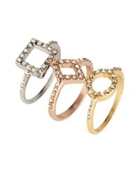 H&M | Pink 3-pack Rings | Lyst
