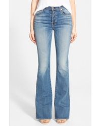 7 For All Mankind | Blue High Rise Bootcut Jeans | Lyst