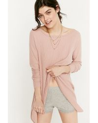 Urban Outfitters   Gray Amber Ribbed Cotton Short   Lyst