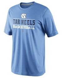 Nike Blue Men'S North Carolina Tar Heels Team Issue Basketball Practice T-Shirt for men