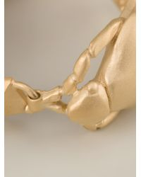 Valentino | Metallic Scarab Bracelet | Lyst