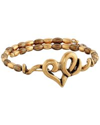 ALEX AND ANI | Metallic Heart Wrap Bracelet | Lyst
