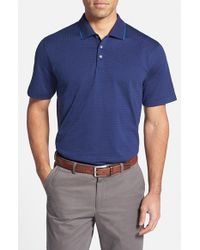 Cutter & Buck - Blue 'bryce' Dot Jacquard Polo for Men - Lyst