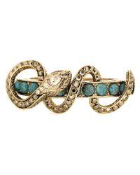 Roberto Cavalli Metallic Crystal Embellished Bracelet