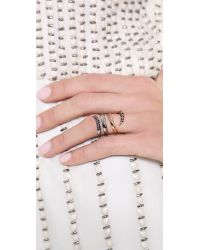Katie Rowland Multicolor Twisted Ring