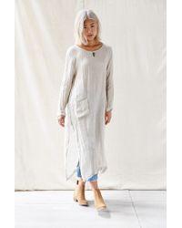 Urban Renewal - White Long Sleeved Tunic Dress - Lyst
