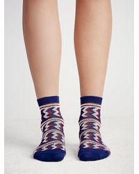 Free People - Blue Joan Ankle Sock - Lyst