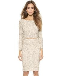 Alice + Olivia Natural Alice + Olivia Lacey Embellished Crop Top - Nude/Cream/Silver