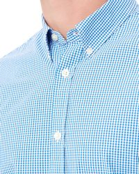Jaeger | Blue Informal Mini Gingham Shirt for Men | Lyst