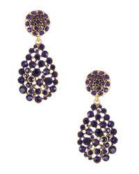 Oscar de la Renta | Purple Honeycomb Teardrop Earrings | Lyst