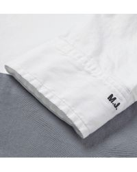 Marc By Marc Jacobs White Contrast-Panelled Cotton Oxford Shirt for men