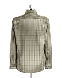 Victorinox | Green Bismark Checked Sportshirt for Men | Lyst